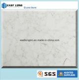Bancada branca da cozinha da cor de Carrara da pedra artificial de quartzo