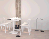 Uispair Moderno 100% Acero Redonda Escritorio Inicio Salón Comedor Dormitorio Escritorio de café