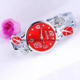 Het zilveren Ronde Kwarts van het Horloge van de Armband van de Armband van Dames