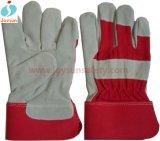 Sécurité soudage de travail unique Palm vache Split en cuir Glove (CB302)