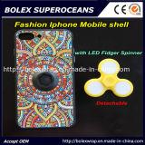 Shell móvil del iPhone caliente de la venta 2017 con el hilandero del dedo, caja del juguete de la persona agitada del hilandero de la mano 2 in-1