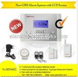Het draadloze GSM Alarm van het Huis met Italiaanse/Spaanse/Franse/Russische Taal
