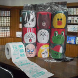 Roulis estampé fait sur commande de tissu de salle de bains de papier de toilette de Camo