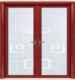 Portello di vetro della stanza del bagno della cerniera di alluminio con la serratura