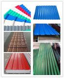 上塗を施してある波形の鋼鉄屋根ふきシート(0.13を着色しなさい--1.3mm)