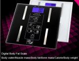 Escala de alta precisión de las grasas de cuerpo de la escala gorda personal