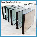 Geluiddicht laag-E bedekte Geïsoleerdc die Glas met een laag in de Bouw, Venster wordt gebruikt