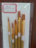 Balai de peinture en nylon, pinceau en bois bon marché de brin de traitement