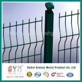 PVCによって塗られる溶接された金網の塀/堅い網の塀の価格