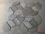 Yellow Wood Vein Flagstone Mats Slate for Flooring Tile