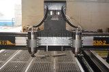 Multi jefe de grabado CNC de la máquina de madera con el cuarto eje, las puertas de madera de la máquina