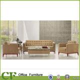 Jogo comercial do sofá do escritório do plutônio do couro da recepção do quarto do escritório