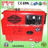 Diesel van de Waterkoeling 6kw Rode Gele Elektrische Generator