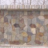 Mur extérieur d'indicateur blanc d'ardoise beige normale de pierre (SMC-Y067)