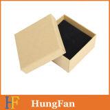 Pendientes tamaño pequeño del color de Kraft que empaquetan el rectángulo de papel/la caja de embalaje del regalo