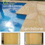 Azulejo y pavimentadoras que hacen frente de piedra naturales de la piscina