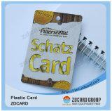 Cr80 van de Creditcard van de Douane Duidelijke Plastic pvc- Visitekaartjes