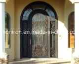 Portas luxuosas do baixo preço do ferro únicas e portas laterais