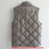 Men를 위한 뒤집을 수 있는 Windproof, Waterproof 및 Breathable Woven Quilted Vest