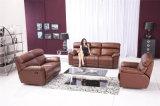 家具のリクライニングチェアの革ソファー