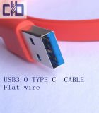 USB3.0 유형 - C 편평한 전화선, Current~3A USB3.0 기준, L=1m