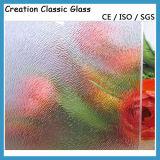 5mm 색깔 유리제 장식무늬가 든 유리 제품 모방된 색깔