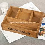 Caixa de madeira natural desobstruída do empacotamento de alimento da caixa do chá da caixa do chocolate