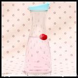 Tarro de té de vidrio con tapa de PP de color