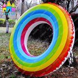 Adulti di galleggiamento variopinti di vendita caldi dei bambini del Rainbow che nuotano i galleggianti degli anelli