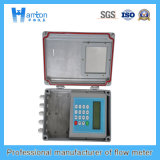 Compteur de débit ultrasonique argenté d'acier du carbone (débitmètre)