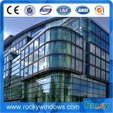 Paroi de rideau en verre extérieur en aluminium pour bâtiment