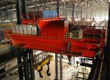 Guindaste aéreo da metalurgia dobro da carcaça da viga usado na oficina de aço