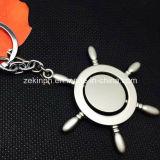 Metal de giro de encargo Keychains con insignia diseñada