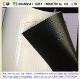 Mata posterior de la bandera del Lit del frente de la flexión del PVC 420GSM (500*500D) del negro para la impresión
