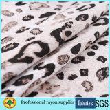 Tela de rayon da cópia do leopardo para a tela dos vestidos das mulheres