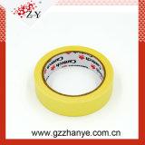 Gelbes Krepp-Papier-selbsthaftendes Kreppband für Selbstfarbanstrich