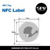 Código Sli ISO15693 de la etiqueta I del Hf del papel del Anti-Metal de Nfc