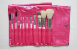 Label privado Makeup Brushes 10PCS Portable Cosmetic Brush