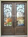 Parte superior quadrada tradicional portas Hand-Crafted do ferro feito