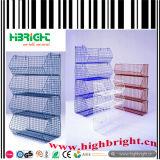 Stand de empilement enduit en plastique de casier métallique de supermarché