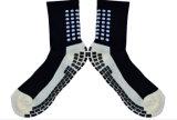 Neuer Form-Baumwollrasterfeld-Art-Team-Sport-Fußball trifft Antibeleg-Fußball-Socken hart
