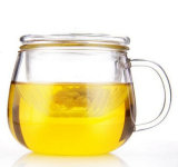 Copo de vidro de borosilicato com copo transparente de 300 ml, copo de chá
