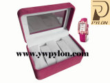 Plastic luxuoso Watch Box com PVC