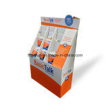 Personnalisé estampé pour choie la crémaillère d'étalage de papier de stand d'étage de présentoir