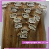 層の毛の拡張の直接価格のOmbre Remyクリップ