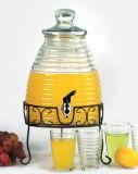 瓶Gardenpicnicのためのガラスジュースの瓶Beveragedispenser