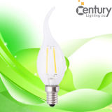 Brightness eccellente 130lm/W 2W 4W 6W A60 E27 LED Filament Bulb Light