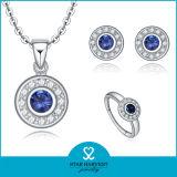Commercio all'ingrosso stabilito dei monili d'argento Charming dello zaffiro 925 (J-0015)