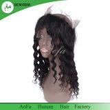 fermetures brésiliennes de bande de lacet du frontal 360 de lacet de cheveu de Vierge de la pente 8A