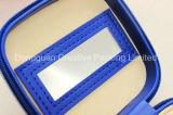 Joyero de cuero joyas de la caja de regalo personalizada de la PU con el espejo